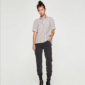 ZARA Striped Shirt with Pockets